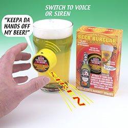 Beer burglar alarm